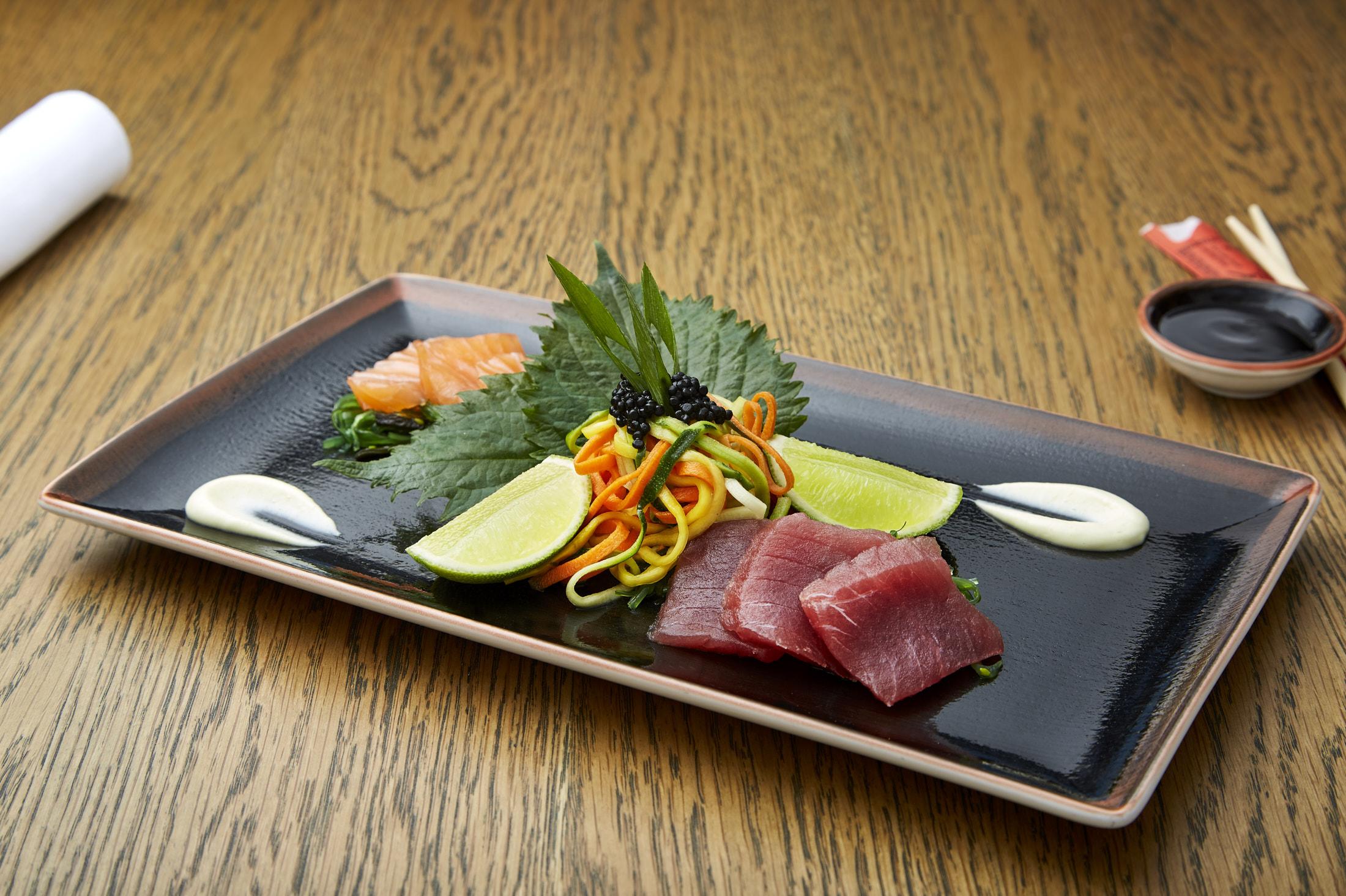 Sashimi tonijn en zalm