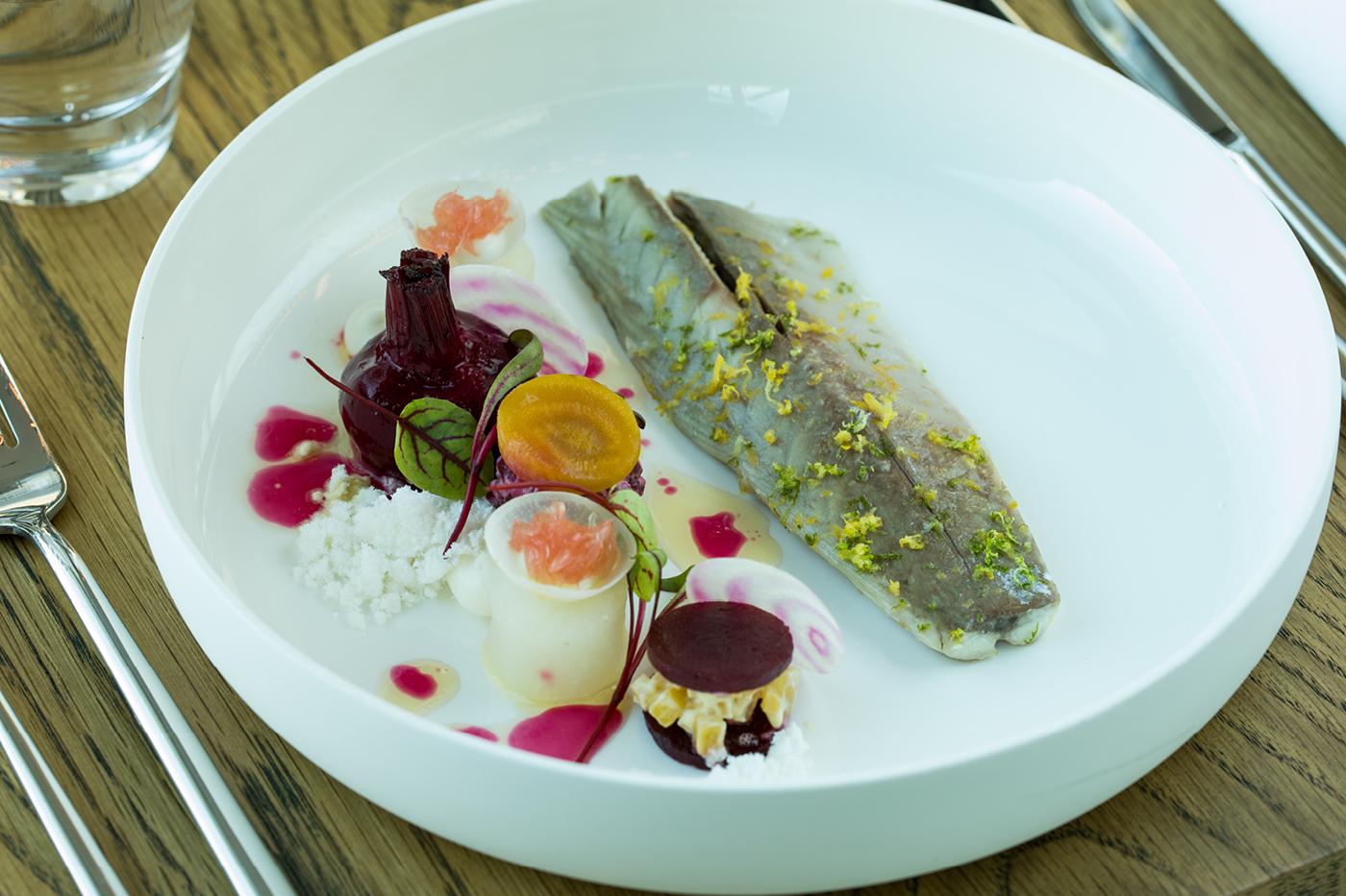 Slow cooked mackerel